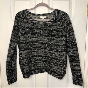 Calvin Klein Wool Grey & Black Print Sweater